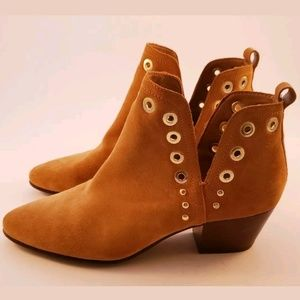 New Sam Edelman Camel Brown Ankle Boots